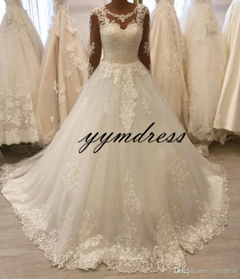 Long Sleeves Wedding Dresses 2019 New With