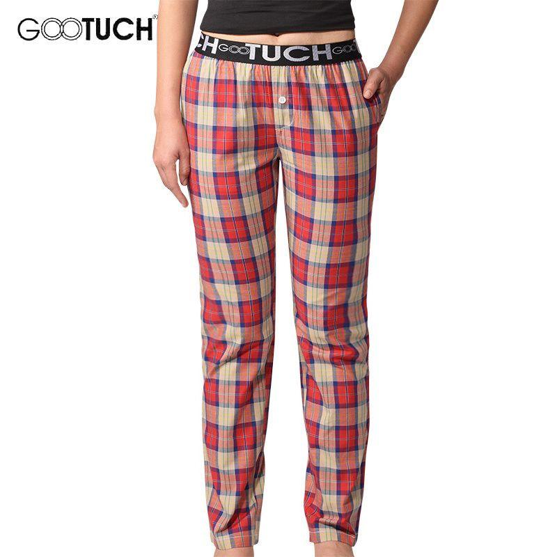 2019 Women Lounge Pants Womens Sleep Bottoms Breathable Cotton Plaid Pijama  Pants Comfortable Pajama G 2506 From Xinpiao 05dd1142868f