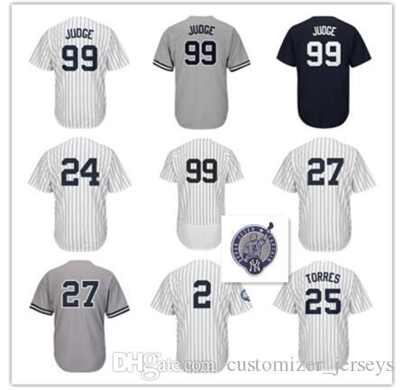8ac56dac5 New York 99 Aaron Judge Jersey 27 Giancarlo Stanton 2 Derek Jeter 24 Gary  Sanchez 7 Mickey Mantle 25 Gleyber Torres 3 Babe Ruth Jerseys York Yankees  Gleyber ...
