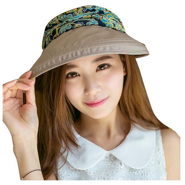 Women Summer Sport Outdoor Face Protective Canvas Sun Cap UV Protect Visor  Hat 12476471b3