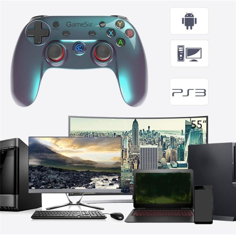 GameSir G3v Bluetooth Gampad 2 4G Wireless Gamepad Android Smart TV BOX  Wired Joystick PC Gamer Gaming Controller For PS3