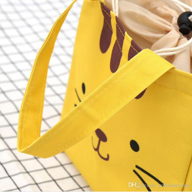 Cute Women Girl Cartoon Lunch Bags Thermal Insulated Lunch Box Picnic Storage Bags Cooler Tote Bag ZA6848
