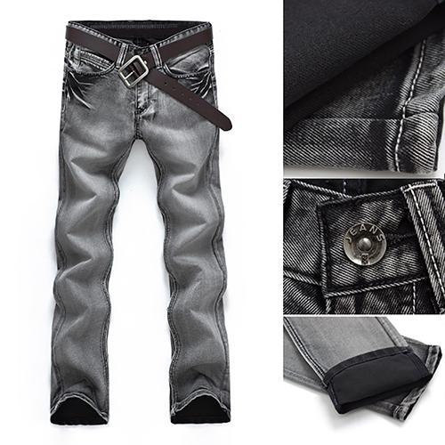 17d68bd8f26 Compre Pantalones De Mezclilla De Los Hombres Clásicos De Mediana Altura  Recta Recta Pantalones De Moda Pantalones Largos De Mezclilla A $32.23 Del  Rachaw ...