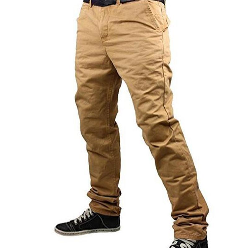 c9199c92900cf Compre 2018 Nueva Marca De Moda Pantalones De Los Hombres De Color Sólido  De Elasticidad De Los Hombres Pantalones Casuales Pantalones De Hombre  Diseñador ...