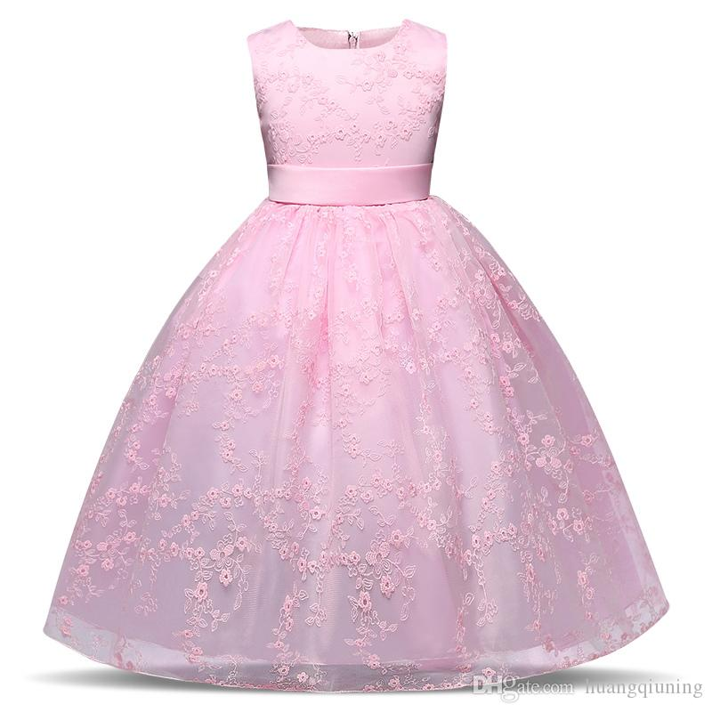 2af6be1afe826 Acheter Robe Rose Pour Les Enfants 4 10 Ans Adolescente Filles Anniversaire  Robes De Mariée Tulle Filles Robe Enfants Costume De Soirée Formelle Robes  De ...