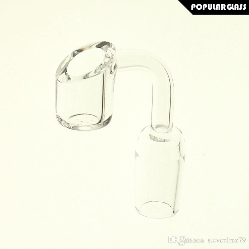 SAML 4mm Thick Quartz Banger Smoking Accessories Nail Male Joint Size 14mm and 18mm 90 degrees PG5068