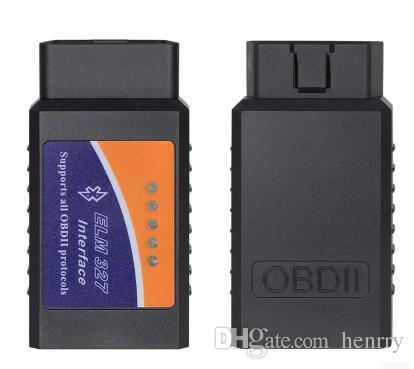 ELM 327 Bluetooth Scanner puede trabajar en el teléfono móvil Elm327 BT OBDII Scan Tool La última versión ELM327 Bluetooth