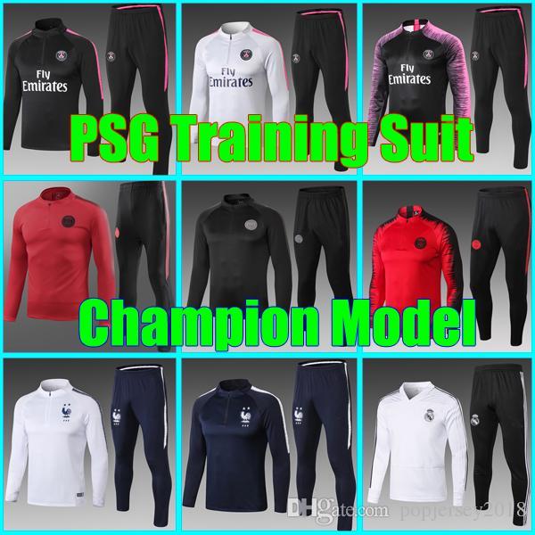 3d58bb8cd New Psg AJ Training Suit 2018 2019 Psg Soccer Tracksuit Sets Paris ...