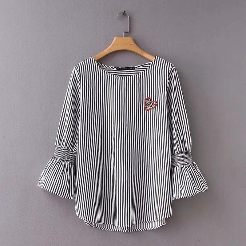 6b799e2ff Mujer O-Cuello Suelta Camiseta de Manga Corta con Estampado de Corazones  Casual Fashion Top para Mujer