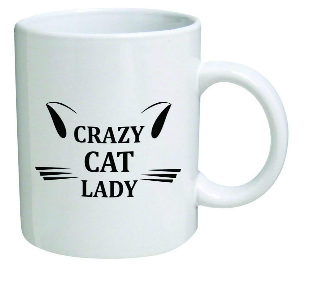 Crazy Cat Lady Inspirational Novelty And Gift Cool Birthday For Coworkers Women Her Mom Sister Imprinted Coffee Mugs From Lgqin