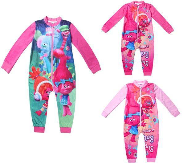 Cartoon Jumpsuits Girls Clothing Long Sleeves Baby Rompers Zipper Tracksuit Girls Pajamas Kids Children's Sleepwear Nightgown