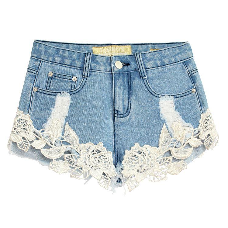 Großhandel Sommer Denim Shorts Frauen Sexy Lace Crochet Hohlnaht Jeans  Shorts Damen Baumwolle Hohe Taille Kurz Plus Größe 32 42 Von Hognyeni,   34.33 Auf De. 524cc4cb08