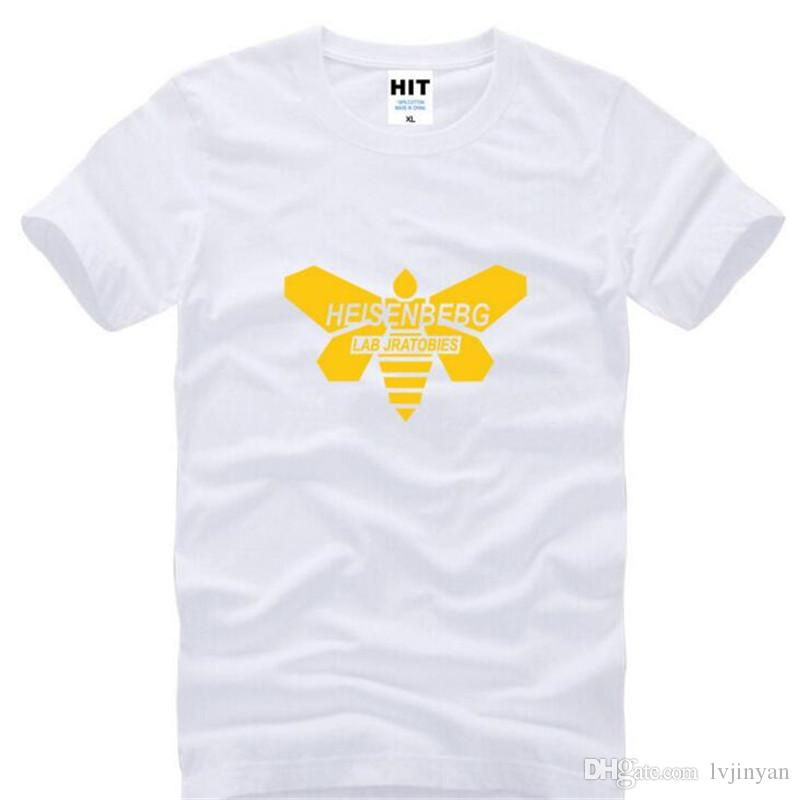 Breaking Bad King Moth Chemical Tags Printed T Shirts Men Short Sleeve O-Neck Cotton Men's T-Shirt Fashion Male Camisetas Hombre