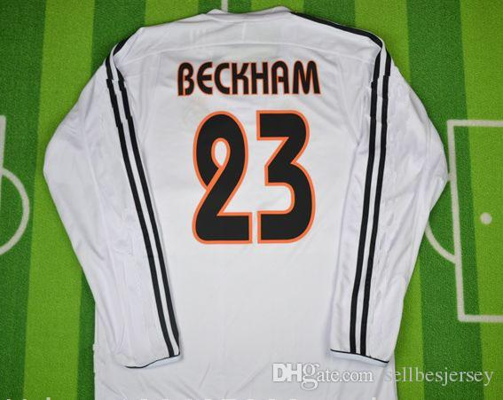 2dfcb82bf2f Retro Jersey 0304 RAUL Beckham Figo Zidane Shirt Retro Jersey 2003 04  Beckham Jersey 03 04 Figo Jersey Online with  45.41 Piece on Sellbesjersey s  Store ...