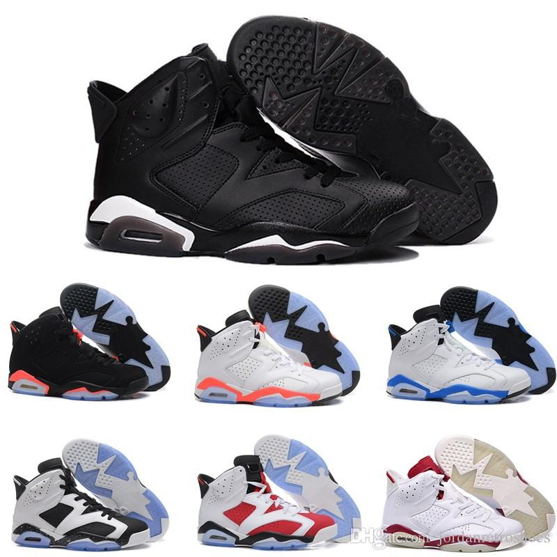 cf0f678b51ffa8 High Quality 6s Mens Basketball Shoes 6 Black Infrared Men Women Carmine  UNC Black Cat Sports Shoes Sneakers Size 7 13 Baseball Shoes Basketball  Shoes For ...