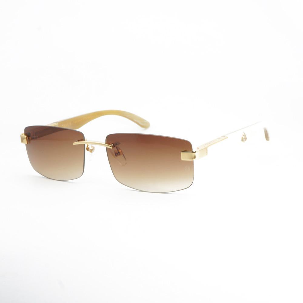 09201cf22a01d Compre Vintage Chifre De Búfalo Óculos Homens Óculos De Sol De Madeira Dos  Homens Para O Verão De Luxo Decoração Óculos Para Viajar Retro Óculos De Sol  De ...