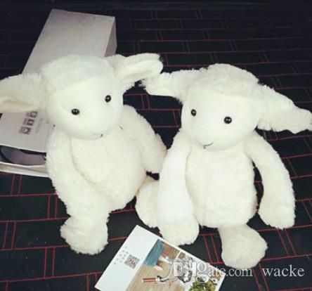 2019 New White Lamb Doll Baby Comforts Plush Toys Cute Sheep Dolls