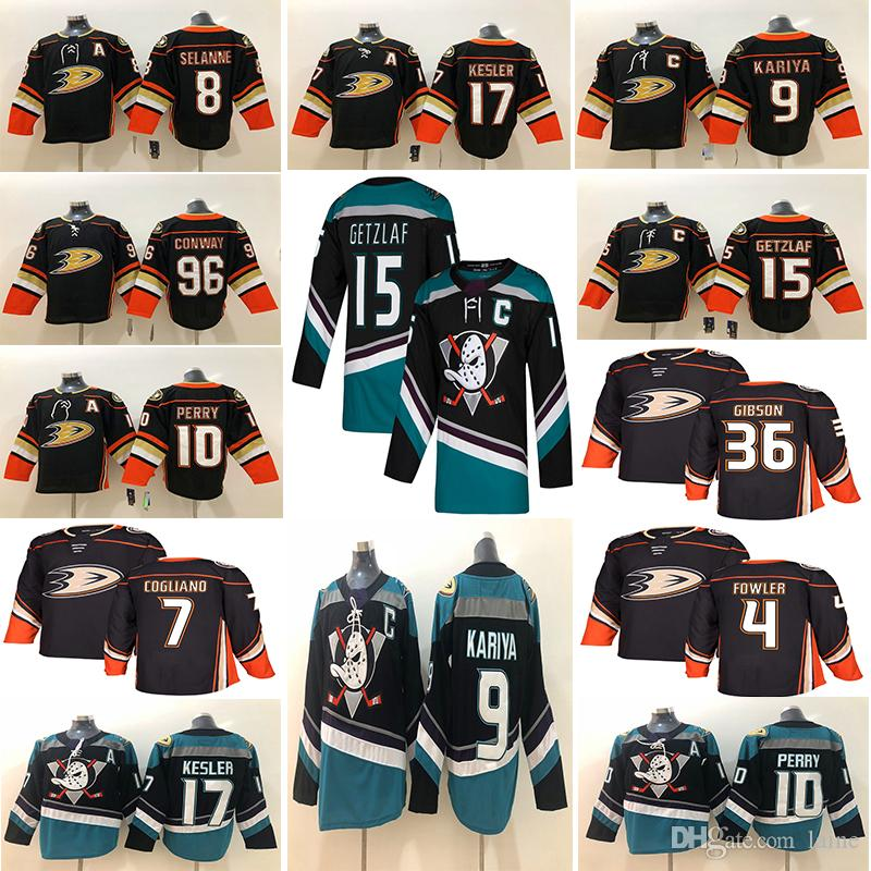 pretty nice 2bd18 14439 2018-2019 New Mens Anaheim Ducks 15 Ryan Getzlaf Jersey 17 Ryan Kesler 10  Corey Perry Hockey Jerseys