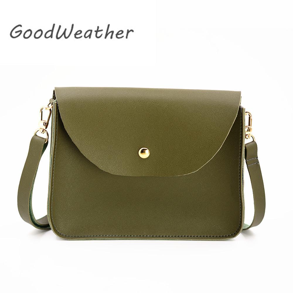 227dfa9b6971 Designer Women Bag Green Shoulder Bag Small Female Soft PU Leather ...