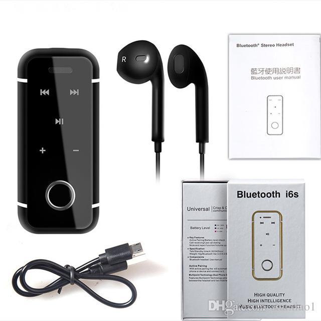 Kopfhörer I6s Bluetooth 4.1 Kopfhörer Sport Musik Kopfhörer Stereo ...