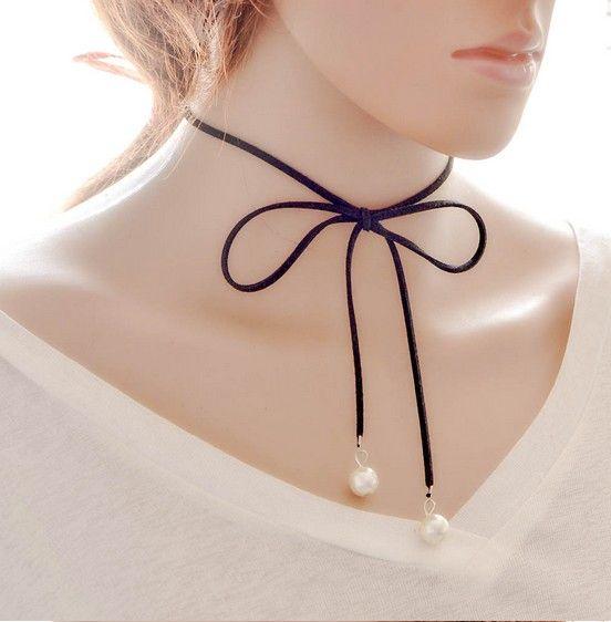 Black Tie Necklaces