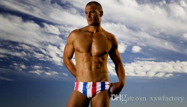 maillots de bain de faible hauteur sexy pochette homme impression des shorts de slips de bain pour hommes maillot de bain homme de surf maillot de bain triangulaire