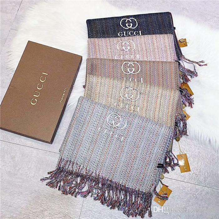 Winter Thick Wool Scarf Famous Designer Brand Scarf Soft Wool Yarn