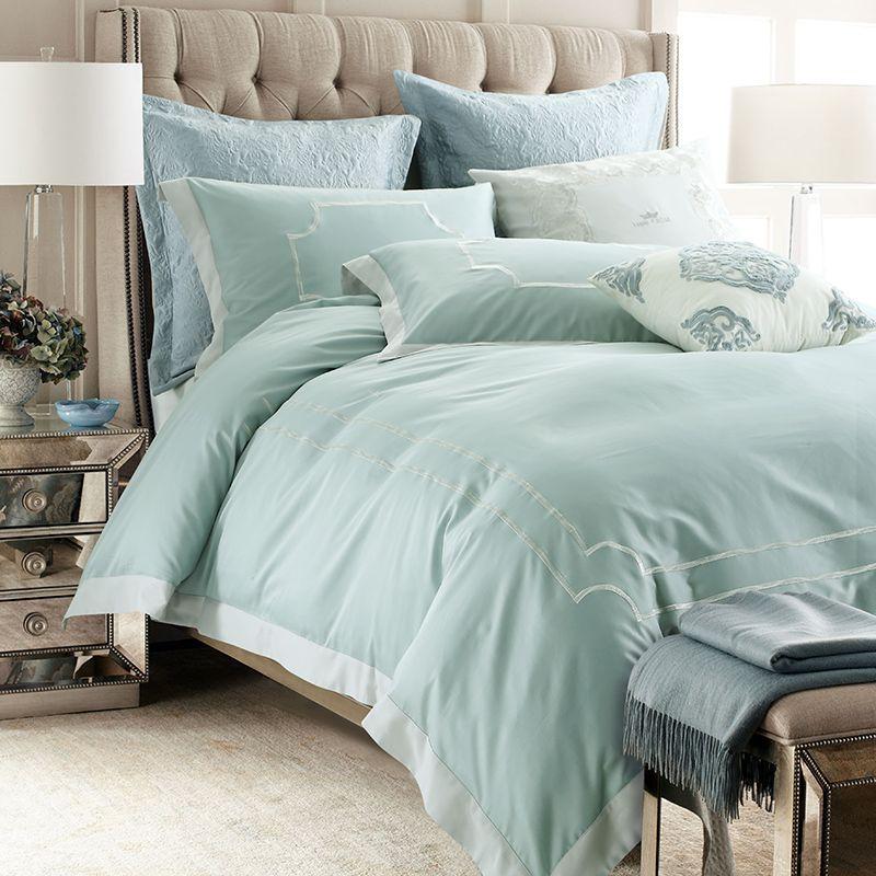 Amazing Egyptian Cotton Tribute Silk Princess Noble Bedding Set Green Color King  Queen Size4/Bed Sheet Set Duvet Cover Pillow Shams Cheap Queen Bedding Sets  Duvet ...