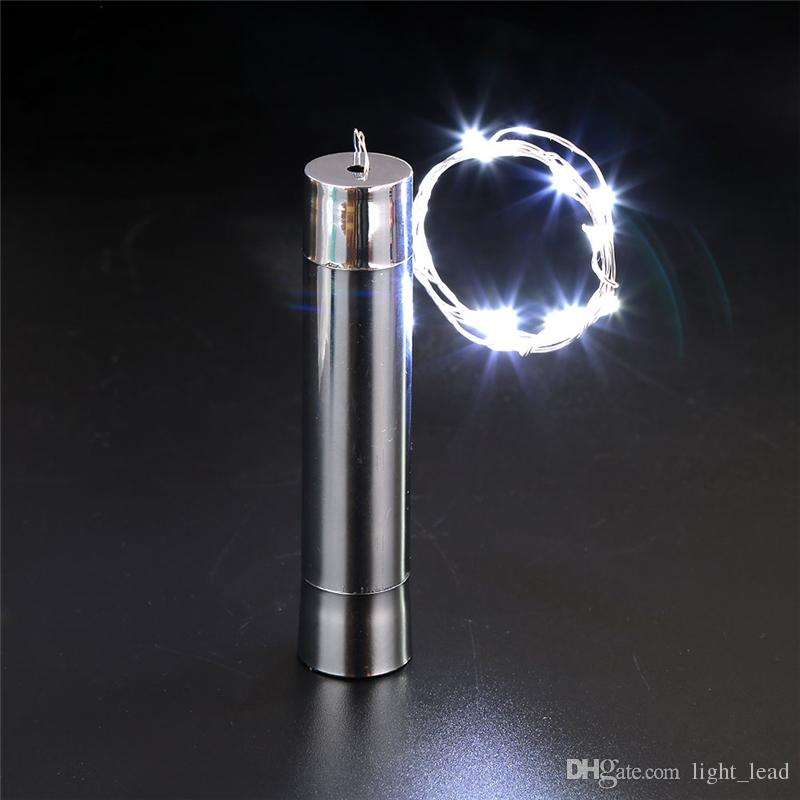 20 Con tecnología LED de la batería Revestimiento del tapón del vino de la botella de cobre DIY la secuencia del LED Luz de Navidad Noche de Gaza Partido al aire libre de la lámpara se enciende Decoración