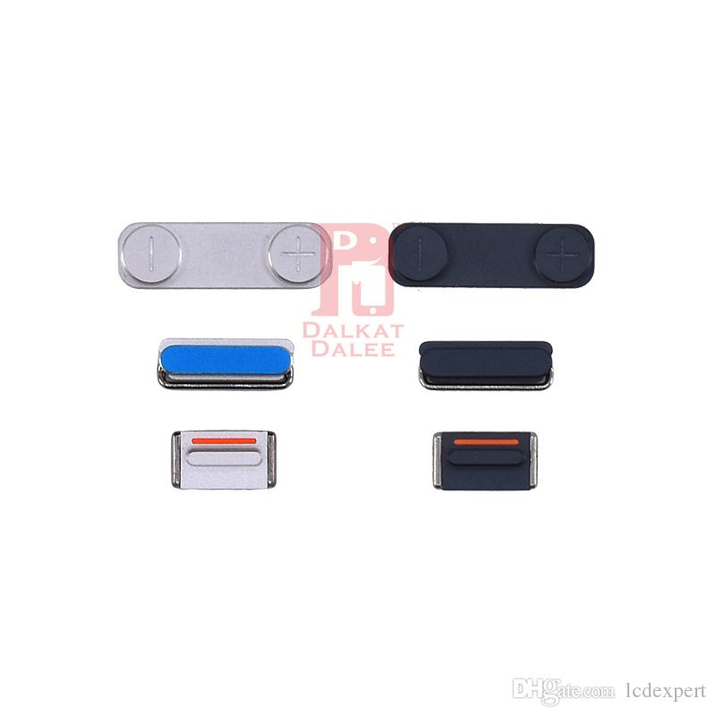 3 in 1 Side Button Set Lock Power Key Switch ON / OFF Buttons + Mute Switch Button Key + Volume Key For iPhone 5 Replacement
