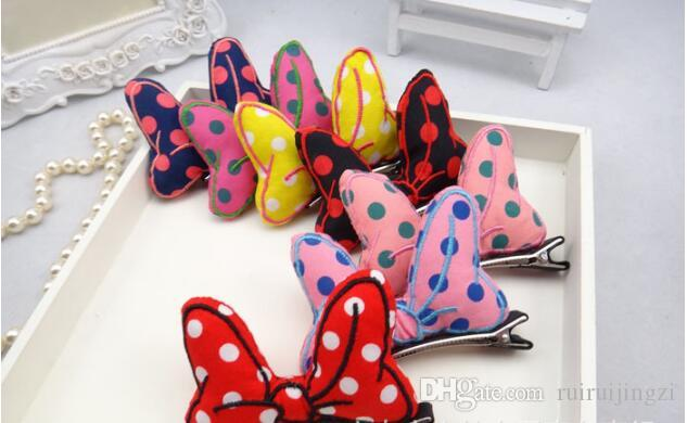 2018 Pet Cats Grooming Accessories Clips Wave point three-dimensional Dogs Bow Hairpin Bows Hairpins Hair Clips Pet Hair Bow