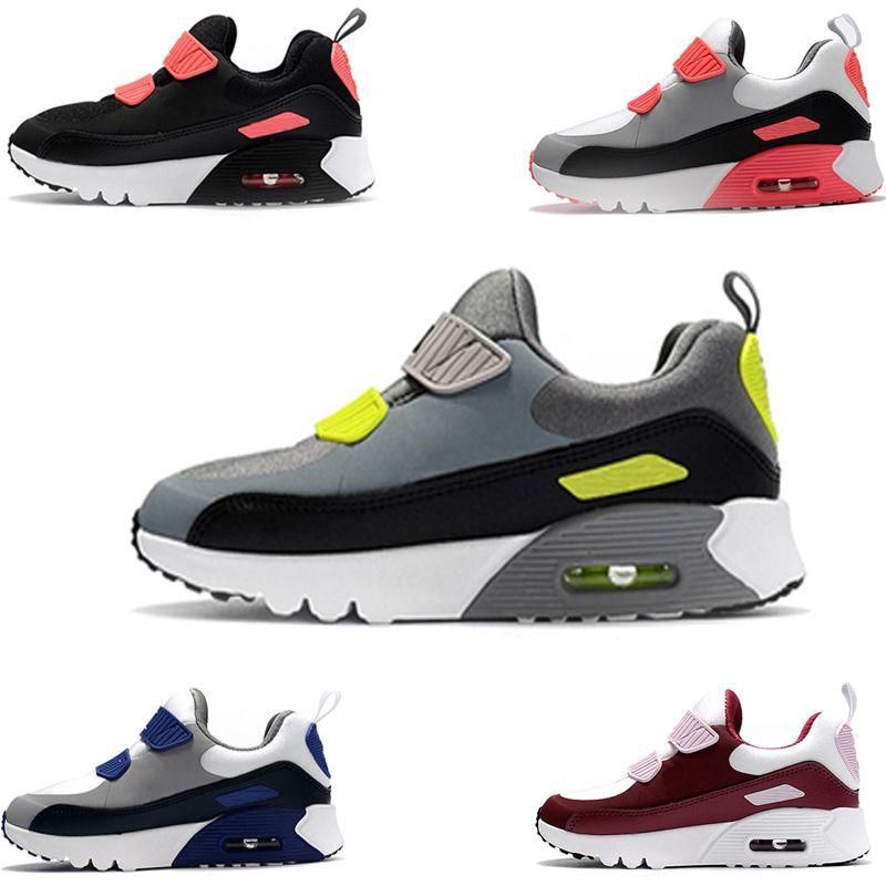 95b794e326ac8 Acheter Nike Air Max 90 Designer Nouvelle Marque Enfants Chaussures Bébé  Tout Petit Classique 90 Enfants 90 Sport Sneaker En Plein Air Chaussures De  Marche ...