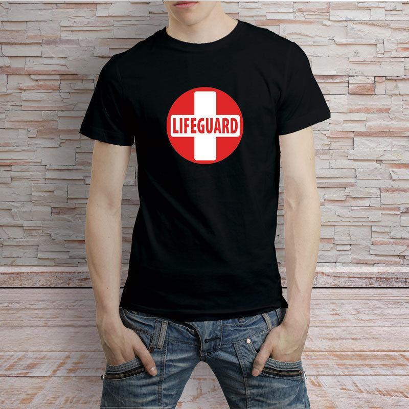 79e3a1fd6cd7 Lifeguard Symbol T Shirt Men S Tee Black And White Hip Hop Novelty T Shirts  Men S Brand Clothing Top Tee Random T Shirts Poker T Shirts From  Fanyumaoyi06