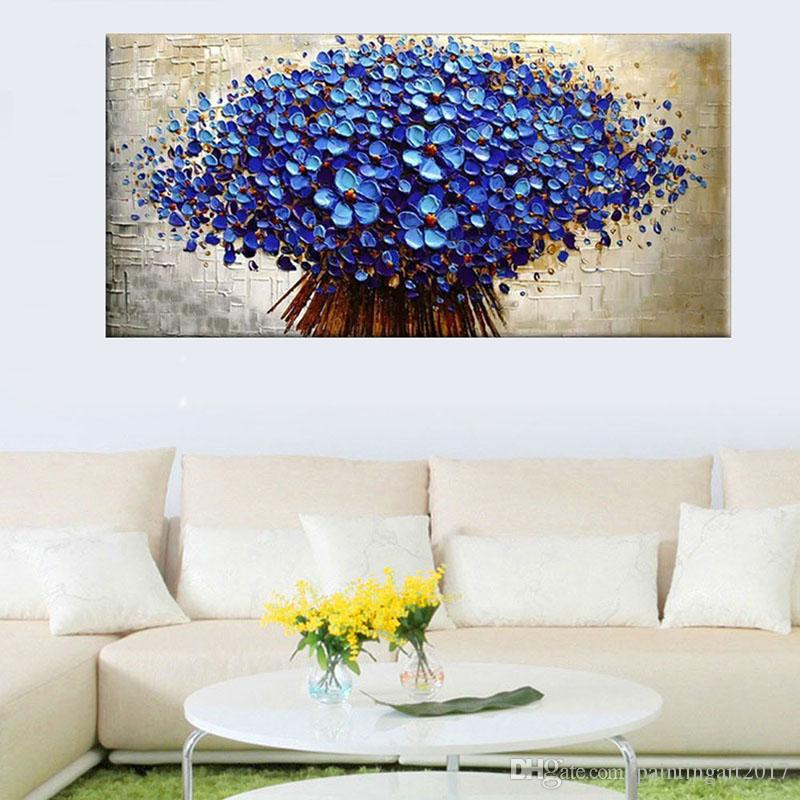 24x48 Hand Painted Oil Painting Unframed Canvas Oil Paintings Floral Wall Picture Decoration Home Decor Office