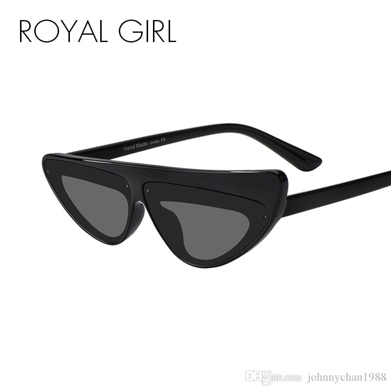 ROYAL GIRL Vintage Cat Eye Sunglasses Women 2018 Brand Designer Small  Triangle Black Sun Glasses Goggles Oculos De Sol Ss002 Smith Sunglasses  Sunglasses At ... 08be681f2c