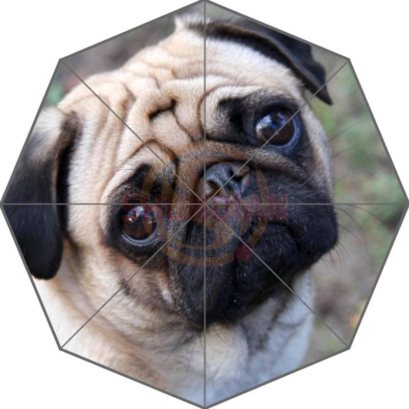 f883fd9a7ed5 Friend Birthday Gift Good Quality Umbrella Cute And Funny Pug Dog Paen12  For Kids Portable Foldable Umbrellas Outdoor Umbrella