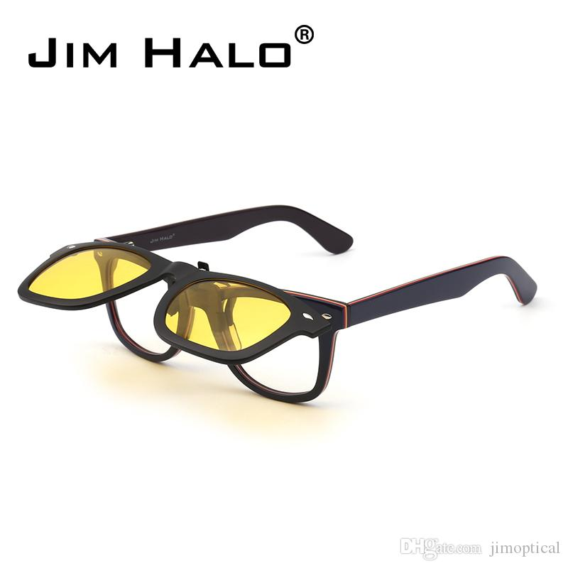 68cdd9ae4a Jim Halo Polarized Clip On Sunglasses Flip Up Mirrored Eyeglasses Men Women  Classic Sun Glasses Lens NOT INCLUDE SUNGLASSES Cheap Eyeglasses Online ...