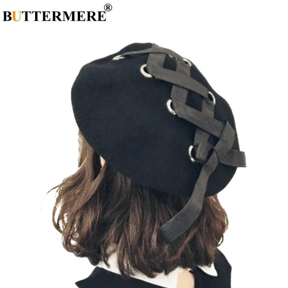 Acquista Berretto Di Lana Francese BUTTERMERE Donna Berretto Piatto Con  Lacci Neri Berretto Da Donna Elegante Bowknot Cappellino Inglese Pittori  Invernali ... 64c39d6587a0