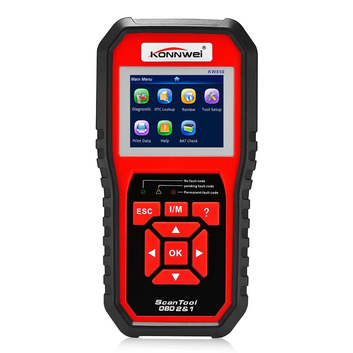 KONNWEI KW850 OBD2 EOBD Automotive Scanner Diagnose-Tool für Diagnose-Scanner Unterstützung acht Sprachen CDT_00P