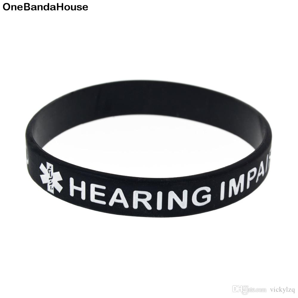 2019 Wholesale New Arrival Hearing Impaired Silicone Wristband Medical  Labels Bracelet For Charity Foundation Activity From Vickylzq, $31.48 |  DHgate.Com