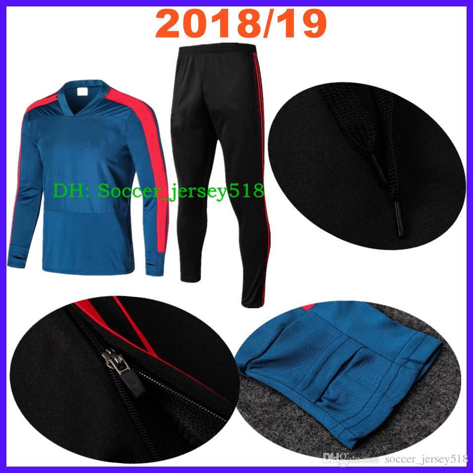 2018 19 Thai Spain Men s Chandal Soccer Jersey Kit Training Suit ... c1c2f4fe4