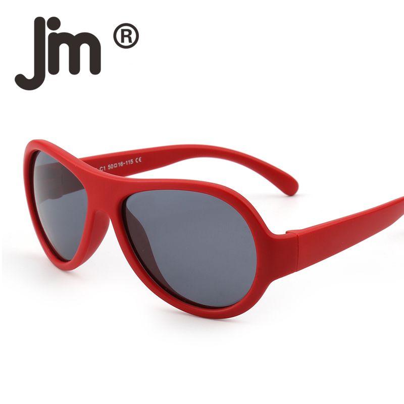 552c99676b7d JM High Quality TPE Material Kids Rubber Polarized Sunglasses Unbreakable  Frame Children Eyewear Girls Boys Sun Glasses Age 3 12 Serengeti Sunglasses  Sun ...
