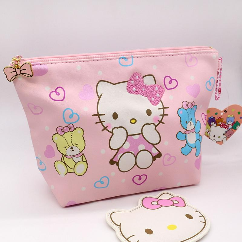 b39d5dd3f 2019 Fashion Cosmetic Bag High Quality PU Hello Kitty Makeup Pouch  Highcapacity Toiletry Bag Pink Color Is Very Cute From Fairness01, $26.44 |  DHgate.Com