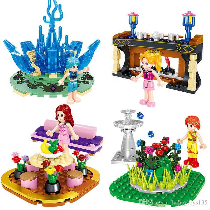 1601 283pcs building blocks MY WORLD baby gift toy Furniture Set Toys four types 4 in 1 educational model toys lepin