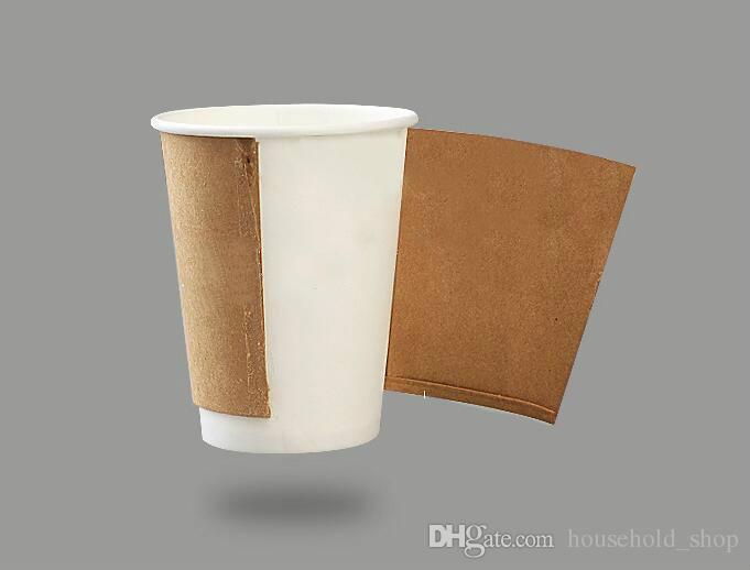 Copos descartáveis copos de papel leite café canecas 12oz 8 oz copos Takeout embalado xícara de chá Recipiente de bebida quente One-off copo com tampas