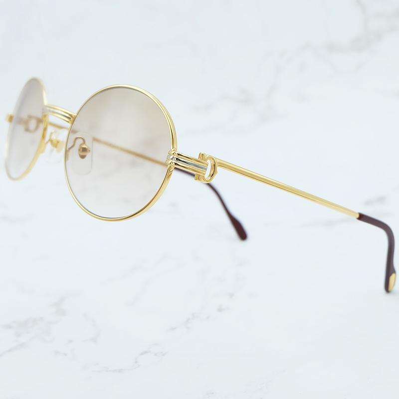 f00aa104b4 Retro Oval Sunglasses Men Metal Stylish Sunglass Mens Classic Driving Shade Eyewear  Brand Designer Sun Glasses Bolle Sunglasses Electric Sunglasses From ...