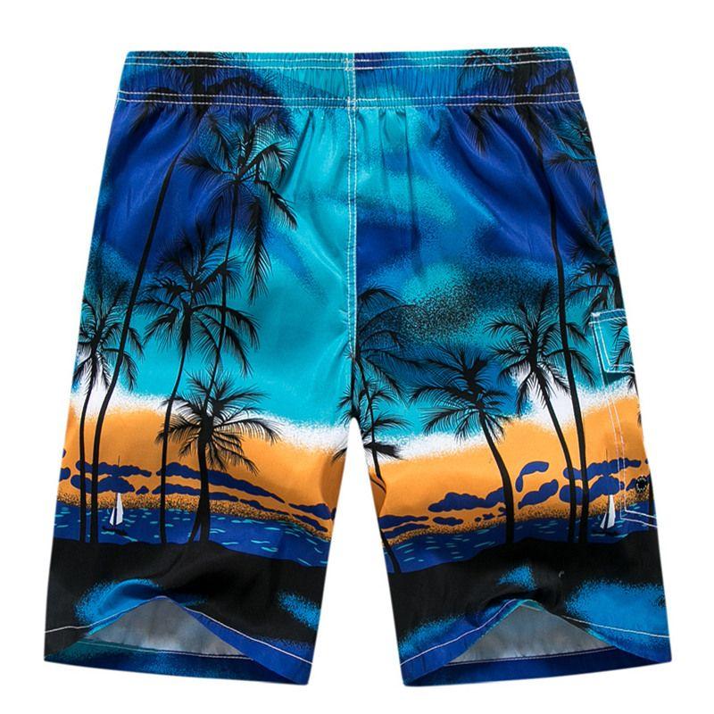 037b507ef0 Mens Board Shorts Brand Summer Clothing Coconut Trees Swimwear Beach Shorts  Men 'S Surf Quick Dry Swimming Shorts