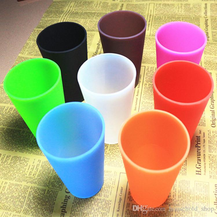 Silicone cup Unbreakable 13oz 350ml Foldable Red wine cups Clear Rubber Wine Glass Barbecue camping portable Juice Cooffee Mugs DHL