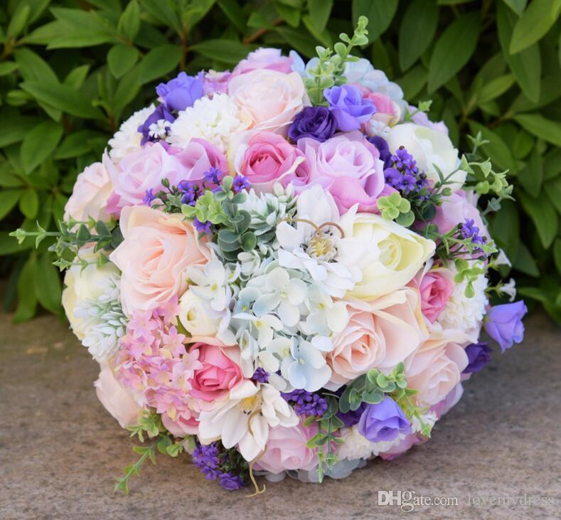 Beach Wedding Flowers: Romantic Handflowers Wedding Bouquets For Bride 2018 New