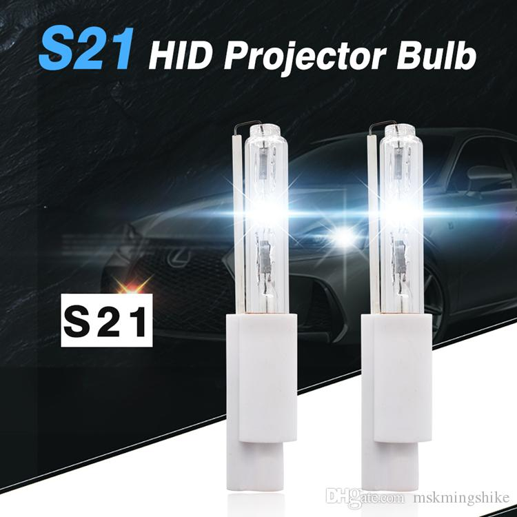 Geeto S21 finger bulb HID XENON Lamp 21mm light Projector Bulbs 35W for car Projector 12V light lens dedicated xenon bulb